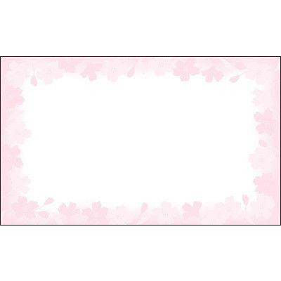 タカ印 カード 花枠 名刺サイズ 16-1710 1箱(30枚入×5冊) (取寄品)