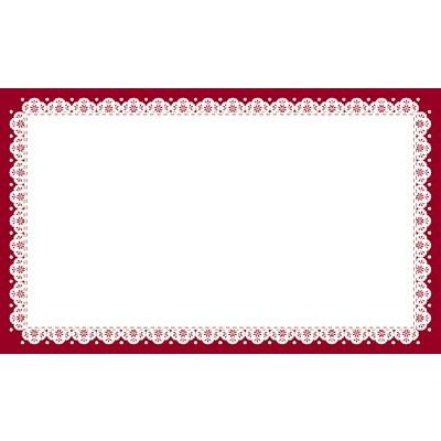 タカ印 カード レース(ワイン) 名刺サイズ 16-1723 1箱(30枚入×5冊) (取寄品)