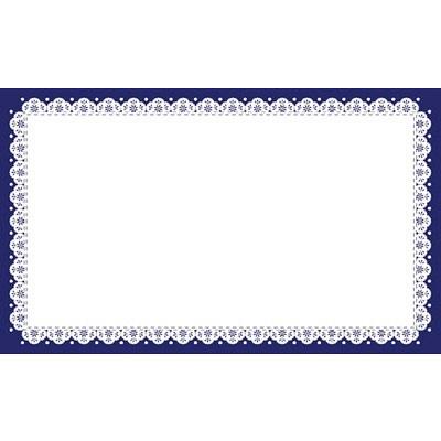 タカ印 カード レース(紺) 名刺サイズ 16-1724 1箱(30枚入×5冊) (取寄品)