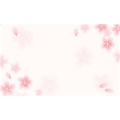 タカ印 カード 桜 名刺サイズ 16-1726 1箱(30枚入×5冊) (取寄品)