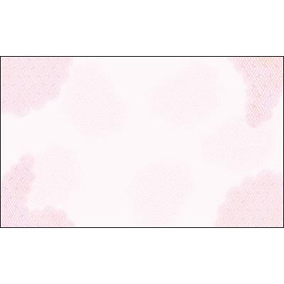 タカ印 カード 桃紗綾雲 名刺サイズ 16-1736 1箱(30枚入×5冊) (取寄品)