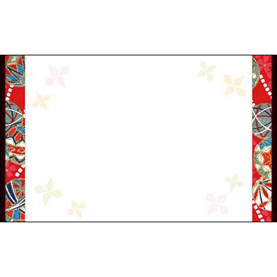 タカ印 カード 手鞠帯 名刺サイズ 16-1746 1箱(30枚入×5冊) (取寄品)