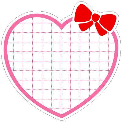 タカ印 抜型カード ハート型 ピンク 16-220 1箱(50枚入×5冊) (取寄品)