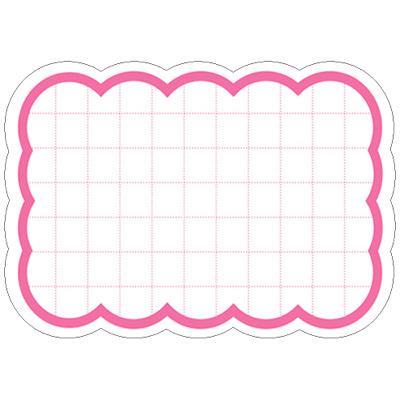 タカ印 抜型カード 波四角 小 ピンク 16-4080 1箱(50枚入×5冊) (取寄品)