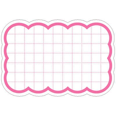 タカ印 抜型カード 波四角 中 ピンク 16-4153 1箱(50枚入×5冊) (取寄品)
