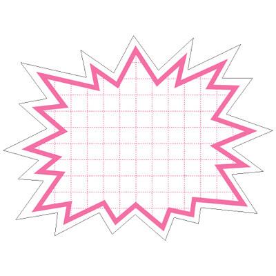 タカ印 抜型カード 爆発 大 ピンク 16-4188 1箱(30枚入×5冊) (取寄品)