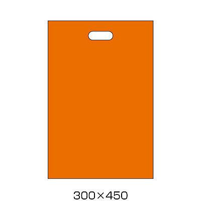 手提げポリ袋 オレンジ L 50枚
