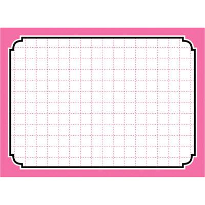 タカ印 カード 小 ピンク枠 16-4272 1箱(50枚入×5冊) (取寄品)