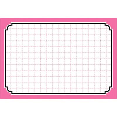タカ印 カード 中 ピンク枠 16-4372 1箱(50枚入×5冊) (取寄品)