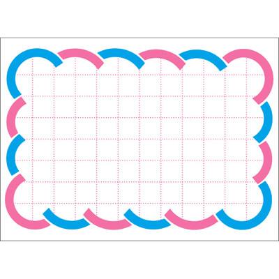 タカ印 カード 小 二色波枠 16-4805 1箱(50枚入×5冊) (取寄品)