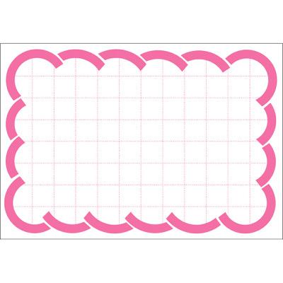 タカ印 カード 中 ピンク波枠 16-4852 1箱(50枚入×5冊) (取寄品)