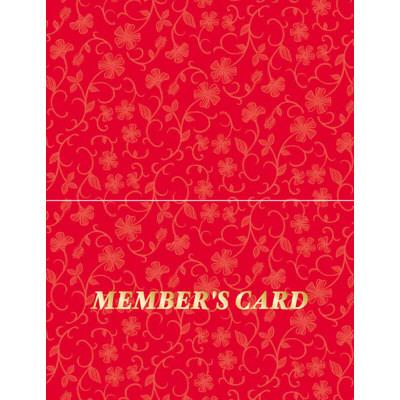 タカ印 メンバーズカード レリーフ赤 二つ折 16-4913 1箱(50枚入×5冊) (取寄品)