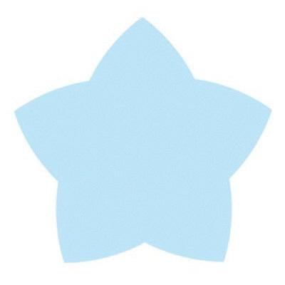 タカ印 ミニシルエットカード スター 16-7003 1箱(30枚(10色各3枚)入×5冊) (取寄品)