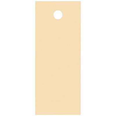 タカ印 スーパー提札 ベージュ<糸なし> 19-554 1箱(100枚入×5袋) (取寄品)