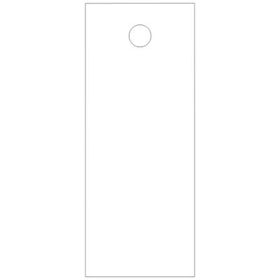 タカ印 スーパー提札 ミルキーホワイト<糸なし> 19-557 1箱(100枚入×5袋) (取寄品)