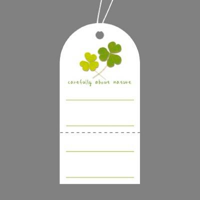 タカ印 スーパー提札 クローバー 19-702 1箱(50枚入×5袋) (取寄品)