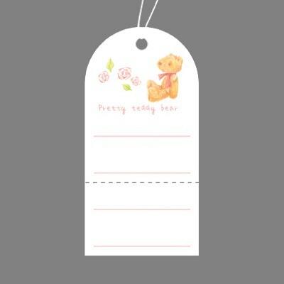 タカ印 スーパー提札 ベア 19-707 1箱(50枚入×5袋) (取寄品)