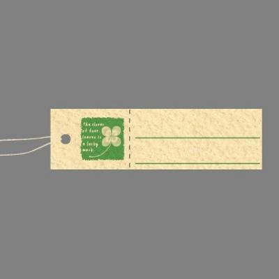 タカ印 スーパー提札 四つ葉のクローバー 19-720 1箱(50枚入×5袋) (取寄品)