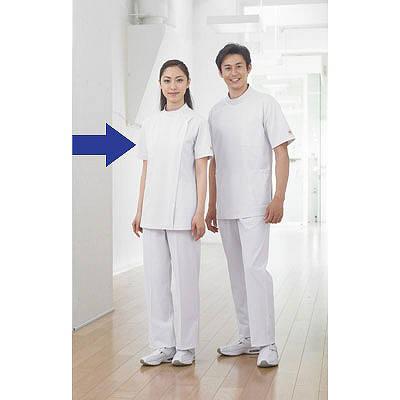 住商モンブラン レディス医務衣(ケーシージャケット) 半袖 ホワイト M A72-362