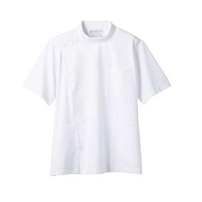 メンズ医務衣(ケーシージャケット) 半袖 A72-962 ホワイト LL