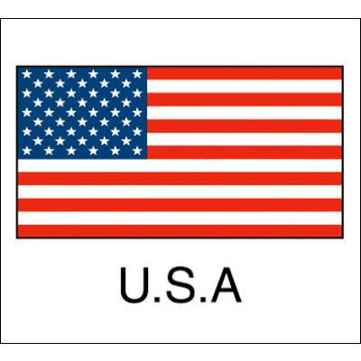 タカ印 国旗シール U.S.A 22-2500 1袋(96片(24片×4シート)入×10冊) (取寄品)