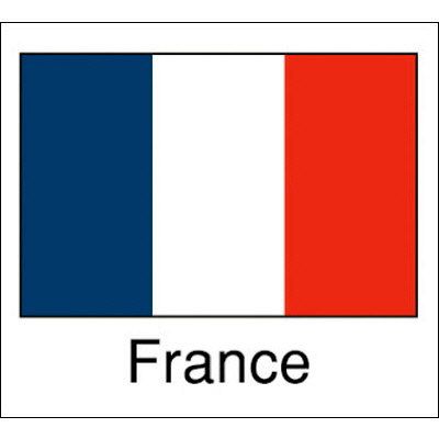 タカ印 国旗シール France 22-2501 1袋(96片(24片×4シート)入×10冊) (取寄品)