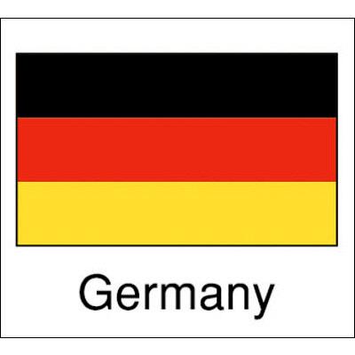 タカ印 国旗シール Germany 22-2502 1袋(96片(24片×4シート)入×10冊) (取寄品)