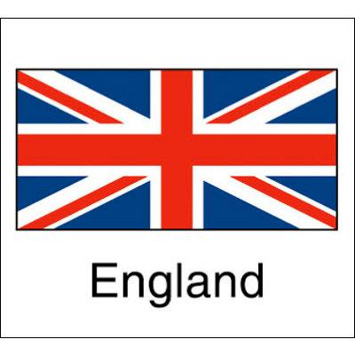 タカ印 国旗シール England 22-2506 1袋(96片(24片×4シート)入×10冊) (取寄品)