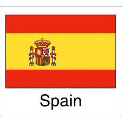 タカ印 国旗シール Spain 22-2512 1袋(96片(24片×4シート)入×10冊) (取寄品)