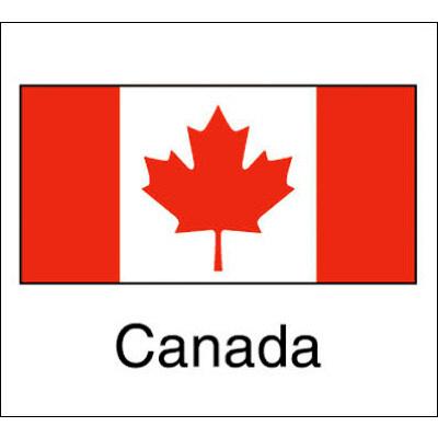 タカ印 国旗シール Canada 22-2516 1袋(96片(24片×4シート)入×10冊) (取寄品)