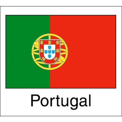 タカ印 国旗シール Portugal 22-2517 1袋(96片(24片×4シート)入×10冊) (取寄品)