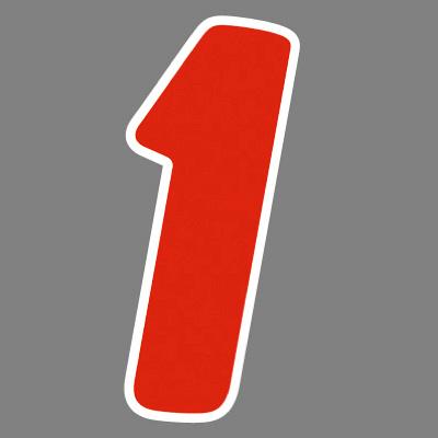 タカ印 アドインレタ 数字 小 1 22-501 1箱(96片(12片×8シート)入×10冊) (取寄品)