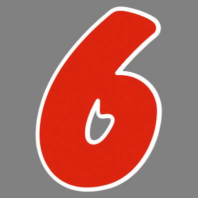 タカ印 アドインレタ 数字 小 6 22-506 1箱(64片(8片×8シート)入×10冊) (取寄品)