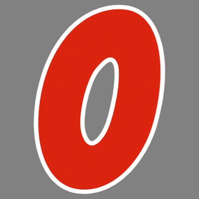 タカ印 アドインレタ 数字 中 0 22-540 1箱(32片(4片×8シート)入×10冊) (取寄品)