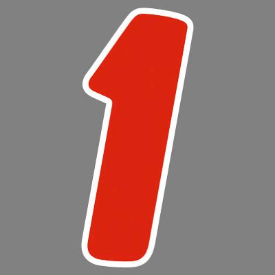 タカ印 アドインレタ 数字 中 1 22-541 1箱(48片(6片×8シート)入×10冊) (取寄品)