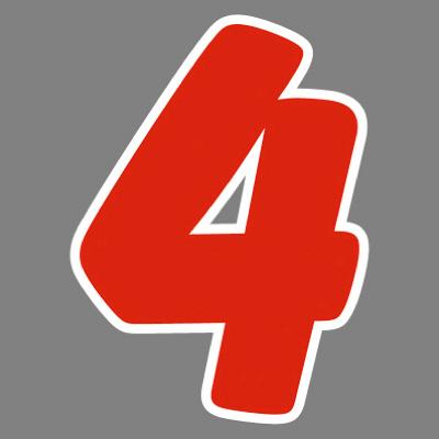 タカ印 アドインレタ 数字 中 4 22-544 1箱(32片(4片×8シート)入×10冊) (取寄品)