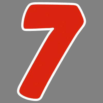 タカ印 アドインレタ 数字 中 7 22-547 1箱(32片(4片×8シート)入×10冊) (取寄品)