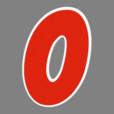 タカ印 アドインレタ 数字 大 0 22-570 1箱(18片(2片×9シート)入×10冊) (取寄品)