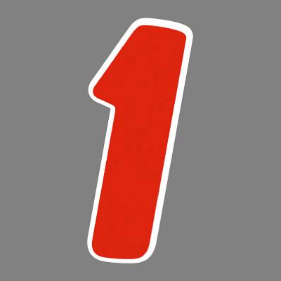 タカ印 アドインレタ 数字 大 1 22-571 1箱(27片(3片×9シート)入×10冊) (取寄品)