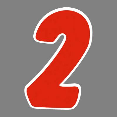 タカ印 アドインレタ 数字 大 2 22-572 1箱(18片(2片×9シート)入×10冊) (取寄品)