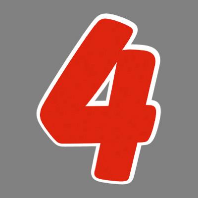 タカ印 アドインレタ 数字 大 4 22-574 1箱(18片(2片×9シート)入×10冊) (取寄品)
