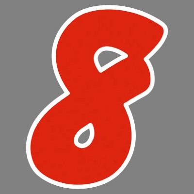 タカ印 アドインレタ 数字 大 8 22-578 1箱(18片(2片×9シート)入×10冊) (取寄品)