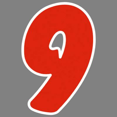 タカ印 アドインレタ 数字 大 9 22-579 1箱(18片(2片×9シート)入×10冊) (取寄品)