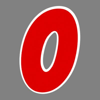 タカ印 アドインレタ 数字 特大 0 22-590 1箱(8片(1片×8シート)入×10冊) (取寄品)