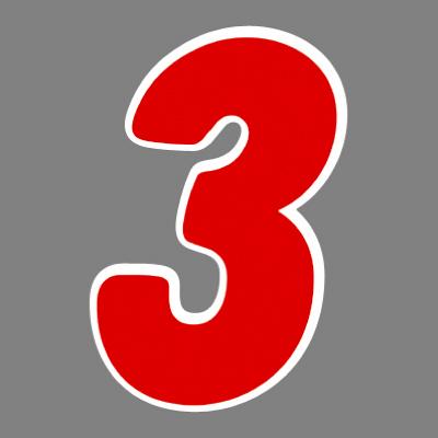 タカ印 アドインレタ 数字 特大 3 22-593 1箱(8片(1片×8シート)入×10冊) (取寄品)