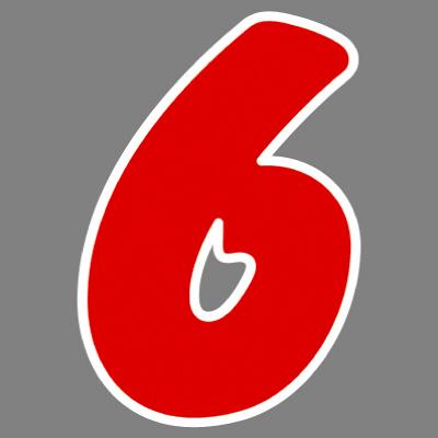 タカ印 アドインレタ 数字 特大 6 22-596 1箱(8片(1片×8シート)入×10冊) (取寄品)