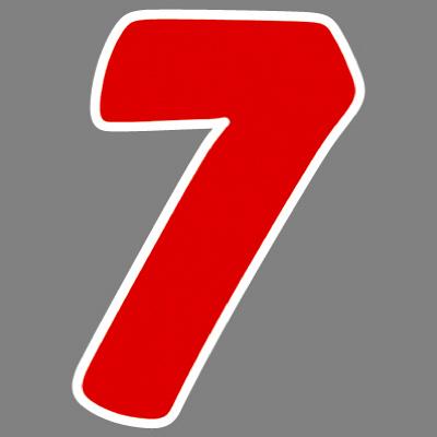 タカ印 アドインレタ 数字 特大 7 22-597 1箱(8片(1片×8シート)入×10冊) (取寄品)