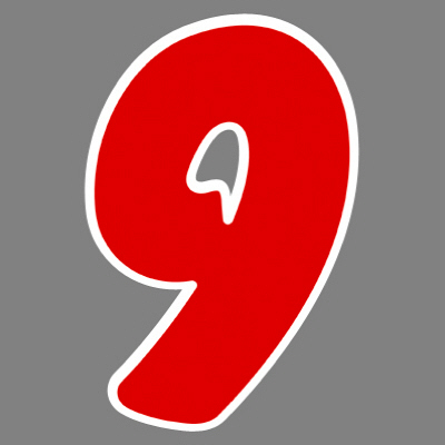 タカ印 アドインレタ 数字 特大 9 22-599 1箱(8片(1片×8シート)入×10冊) (取寄品)