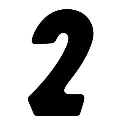 タカ印 アドポップ 数字 黒抜き 2 23-282 1箱(240片(30片×8シート)入×10冊) (取寄品)