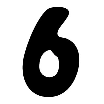 タカ印 アドポップ 数字 黒抜き 6 23-286 1箱(240片(30片×8シート)入×10冊) (取寄品)